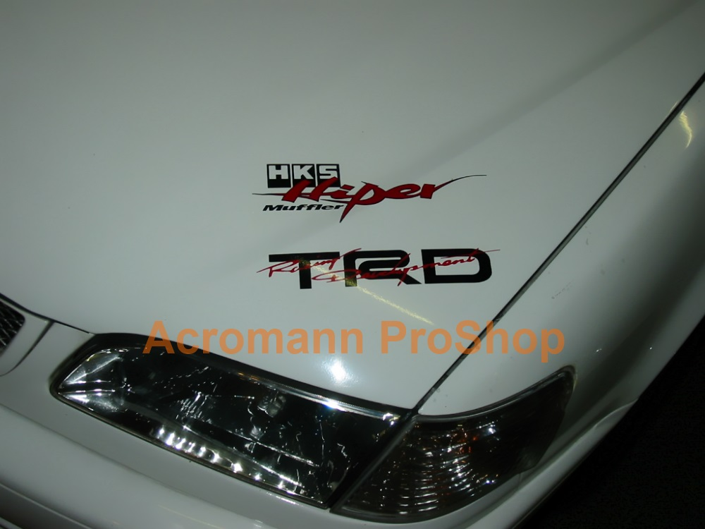TRD 6inch Decal (Style#5) x 2 pcs