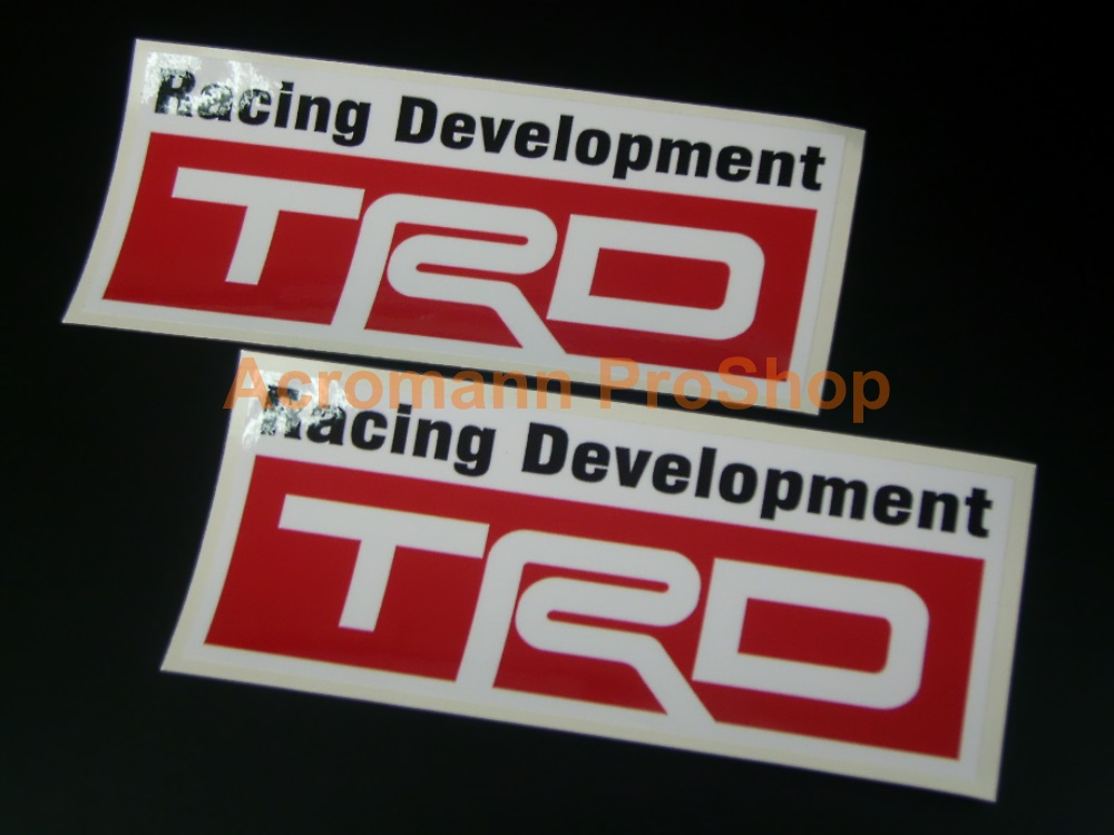 TRD 6inch Decal (Style#8) x 2 pcs