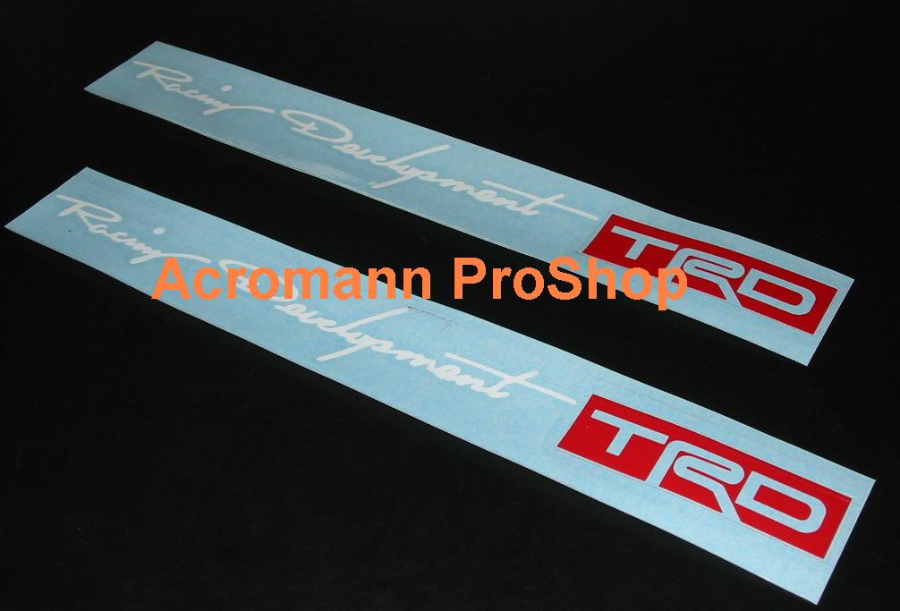 TRD 6inch Decal (Style#2) x 2 pcs