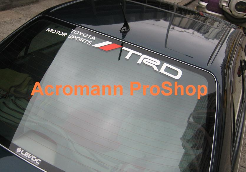 TRD Windshield Decal (Style#7)