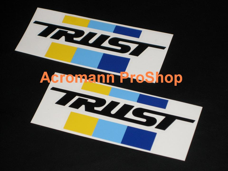 TRUST (GReddy) 6inch Decal (Style#2) x 2 pcs