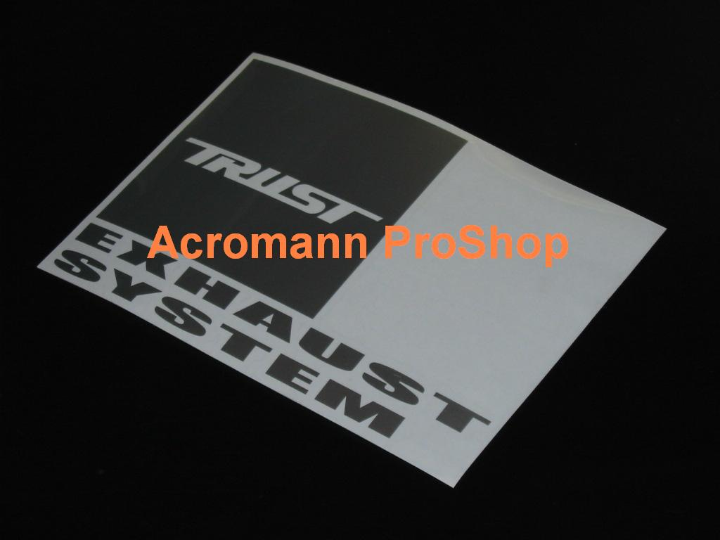 TRUST (GReddy) Exhaust System 6inch Decal x 2 pcs