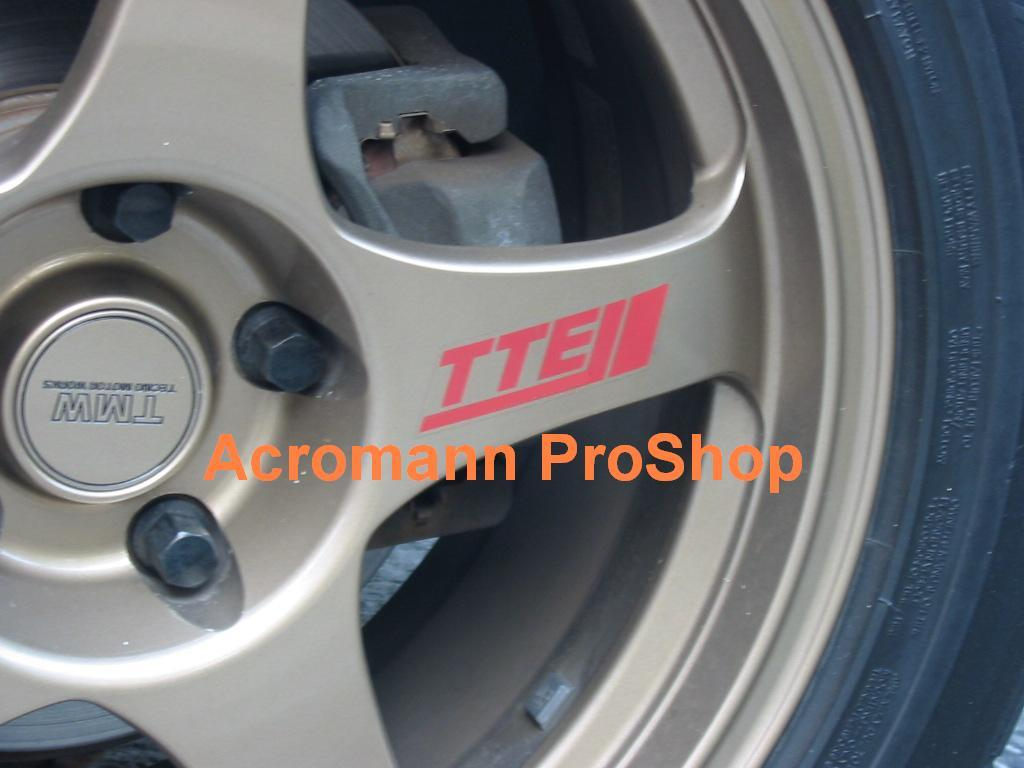 TTE 3inch Alloy Wheel Decal x 4 pcs