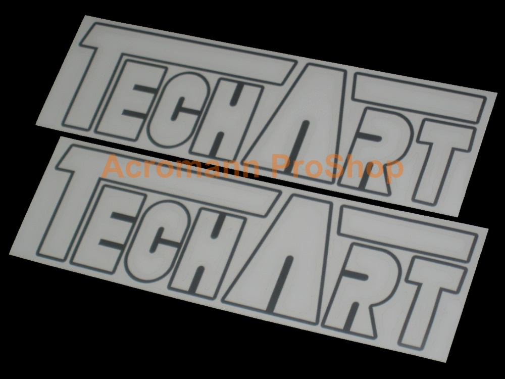 TECHART 6inch Decal (Style#2) x 2 pcs