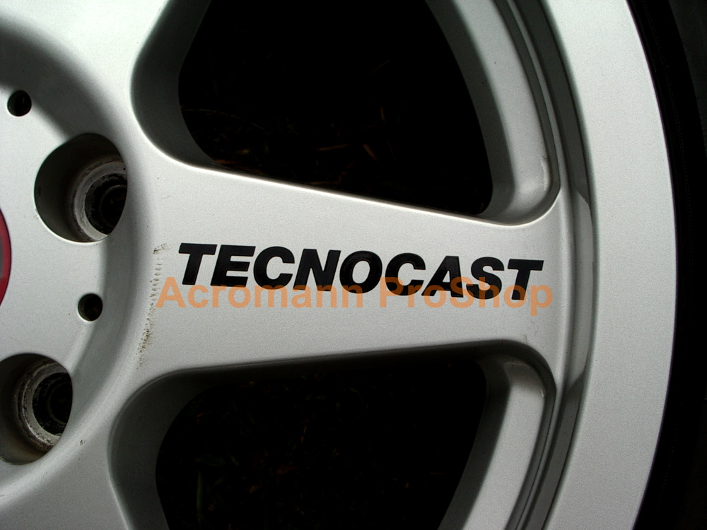 Tecnocast Corsia (eifel/Prova) 4inch Alloy Wheel Decal x 4 pcs