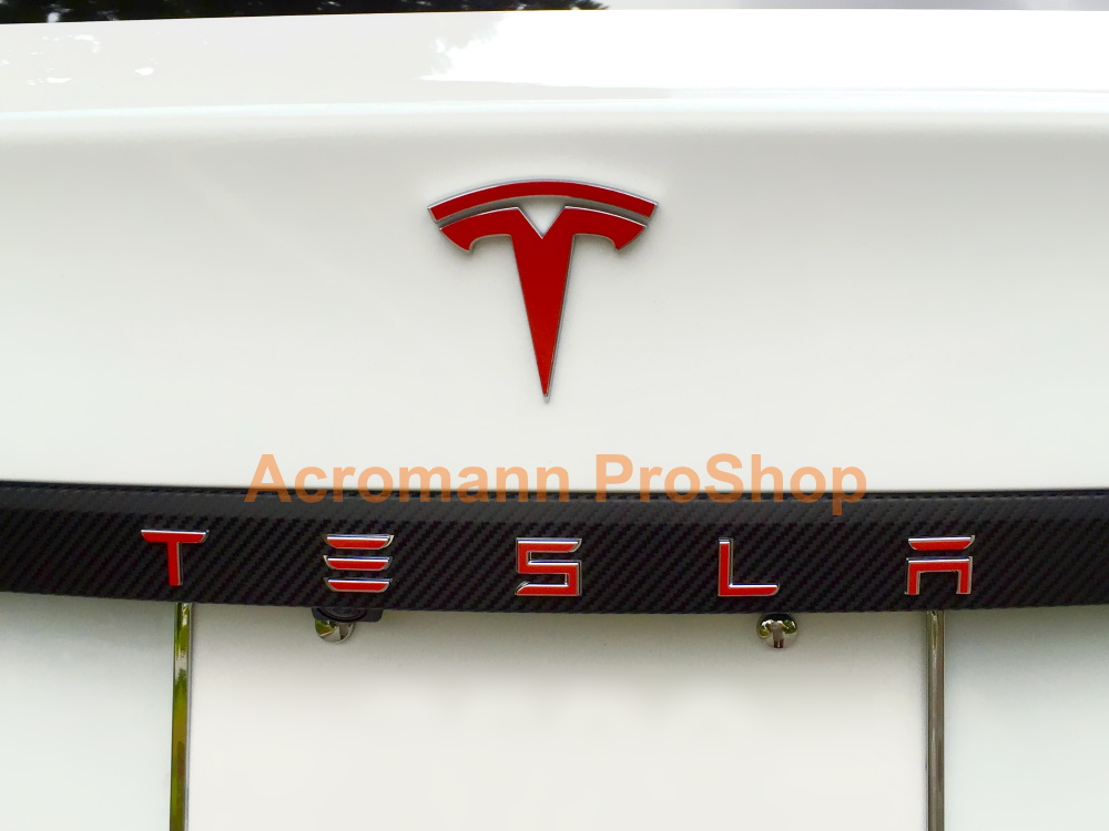 Tesla Model S X Rear Trunk Applique Letters Vinyl Decals Sticker
