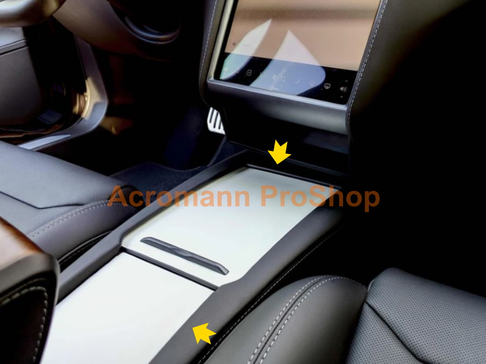 Tesla Model S Center Console Box Cover Vinyl Wrap Decals Sticker