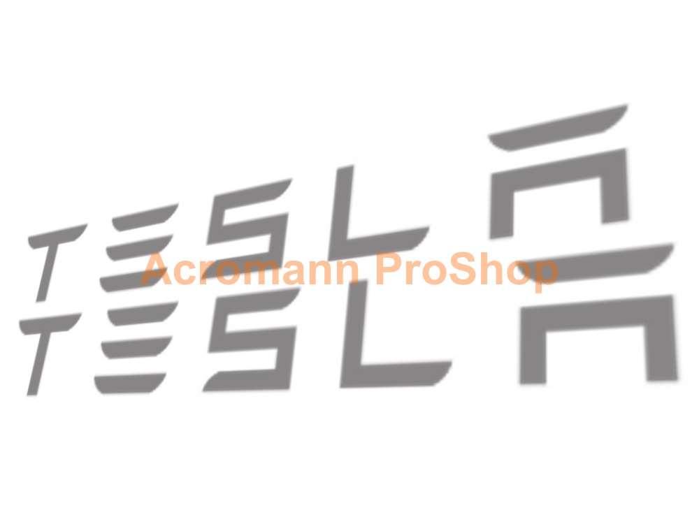TESLA 6inch Decal (Style#1) x 2 pcs