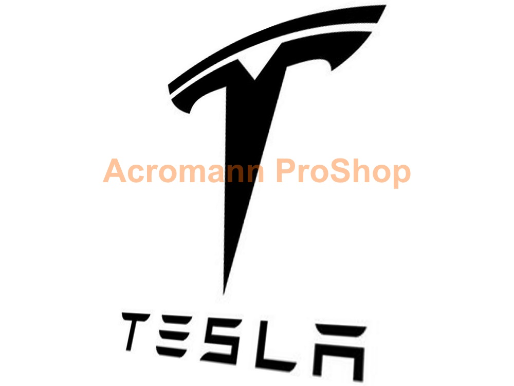 TESLA 6inch Decal (Style#2) x 2 pcs