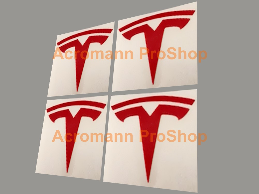 TESLA 3inch Decal (Style#3) x 4 pcs