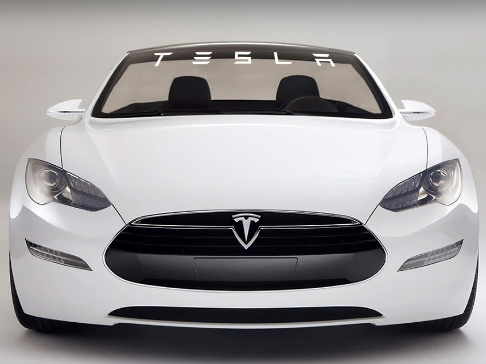 TESLA Windshield Decal (Style#1)