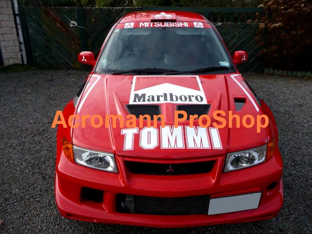 Tommi Makinen (TME) Large Bonnet Decal x 1 pc