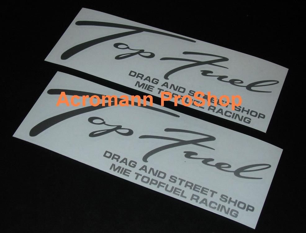 Top Fuel 6inch Decal (Style#1) x 2 pcs