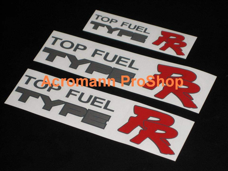 Top Fuel Type RR Decal Set (a set of 3pcs)