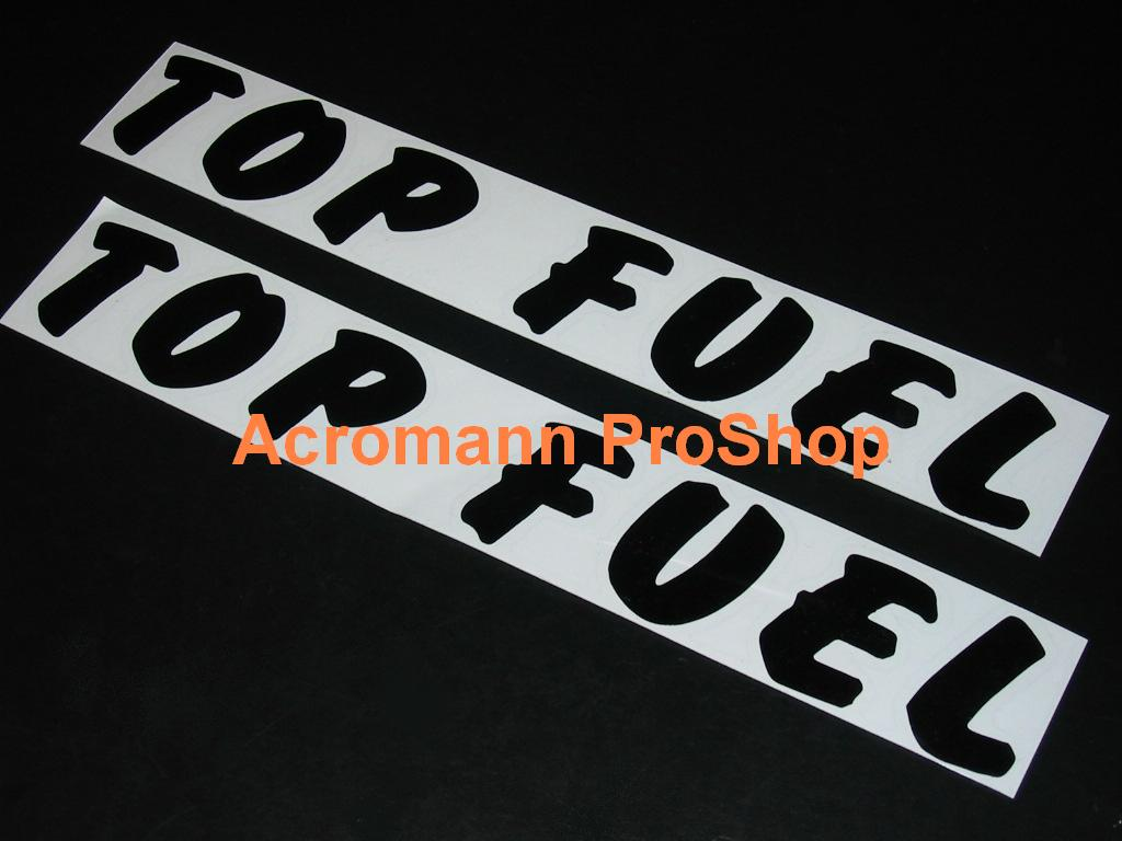 Top Fuel 6inch Decal (Style#2) x 2 pcs