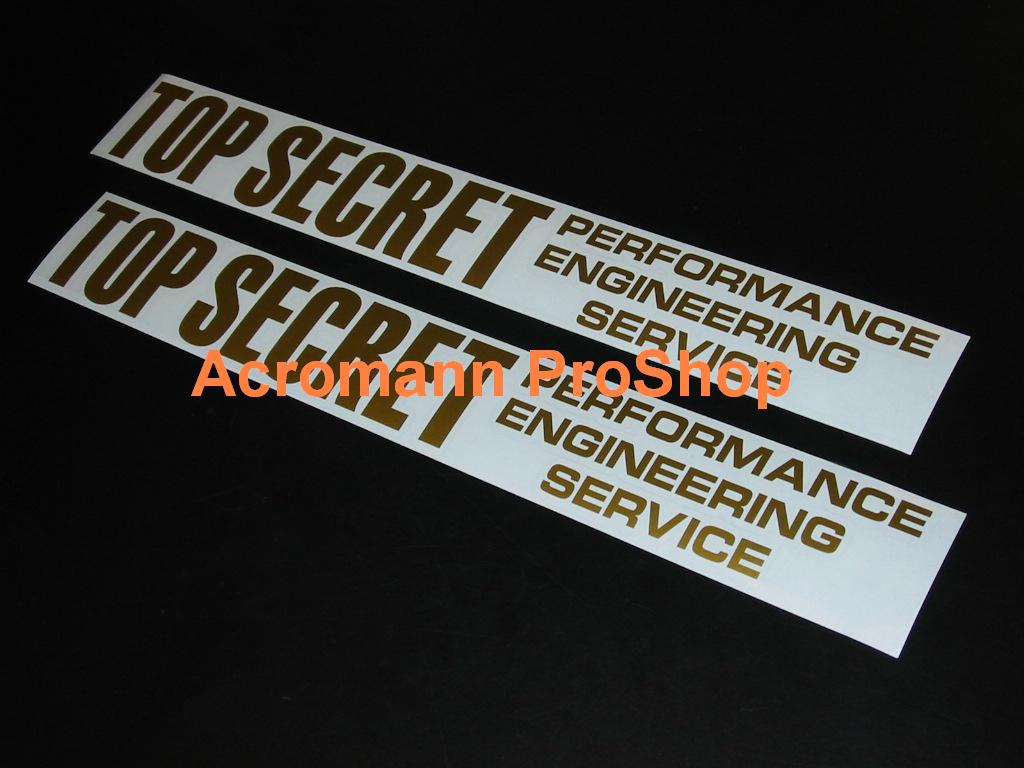 Top Secret 6inch Decal (Style#1) x 2 pcs