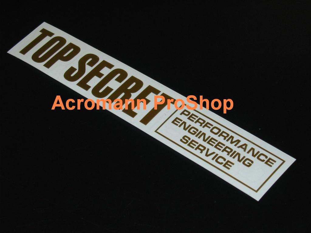 Top Secret 6inch Decal (Style#2) x 2 pcs