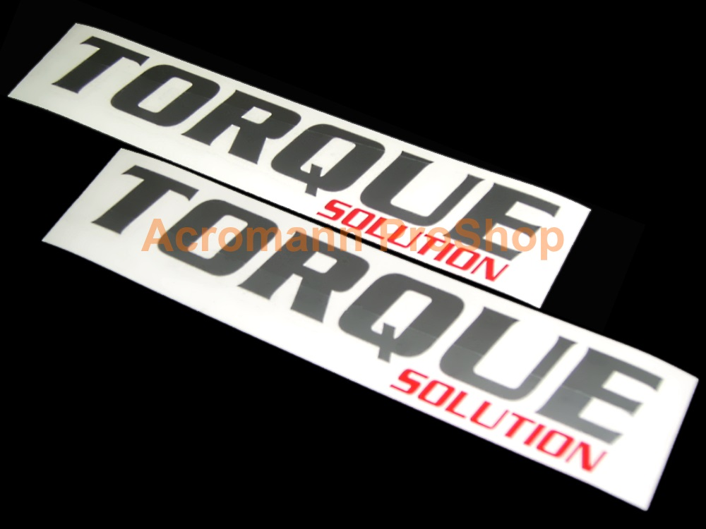 Torque Solution 6inch Decal (Style#1) x 2 pcs