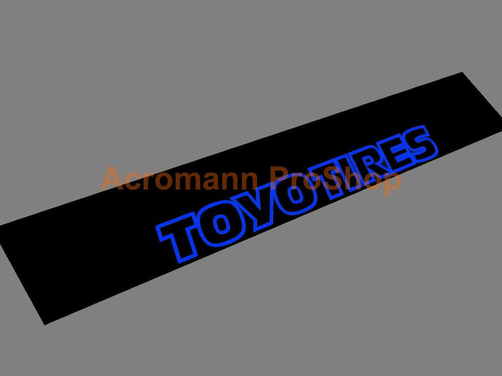 TOYO TIRES Windshield Decal (Style#4)