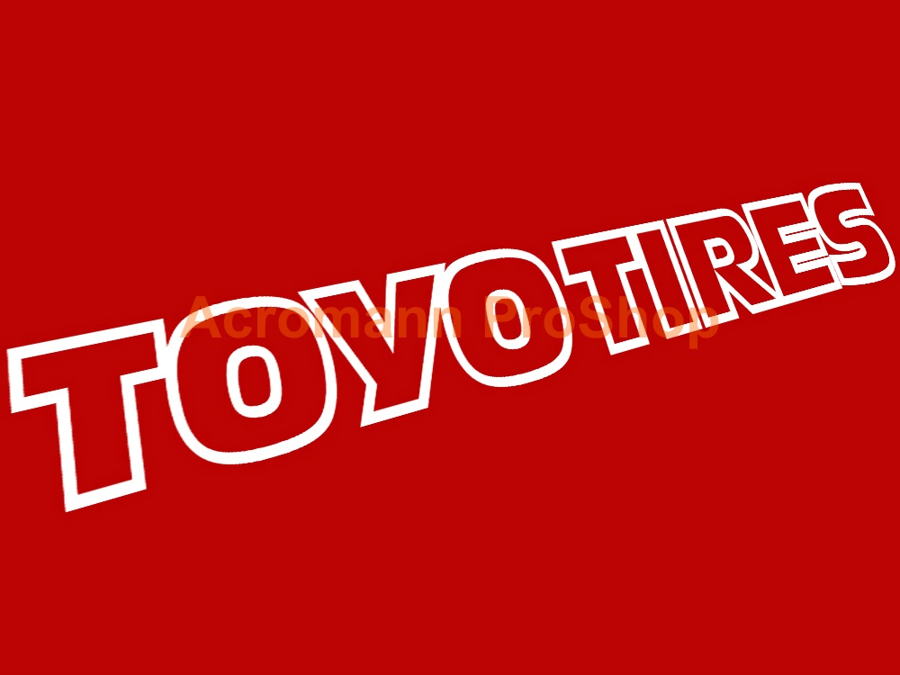 TOYO TIRES Windshield Decal (Style#3)