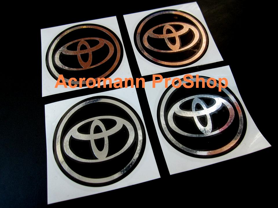 Toyota 2.2inch Wheel Cap Decal (Style#3) x 4 pcs