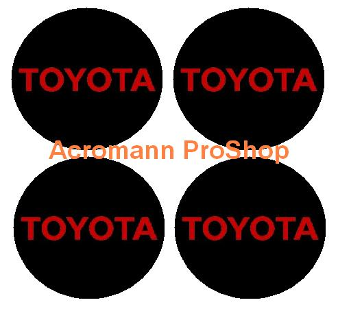 Toyota 2.2inch Wheel Cap Decal (Style#2) x 4 pcs