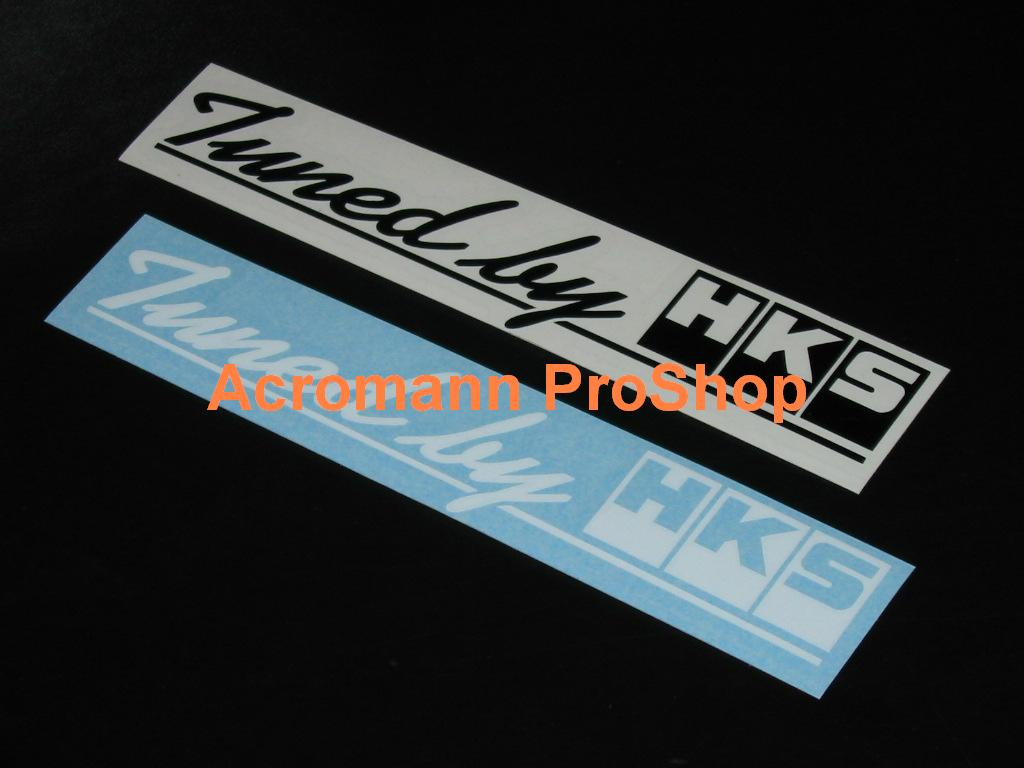 Tuned by HKS 6inch Decal x 2 pcs