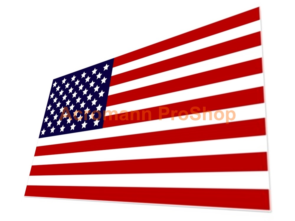 United States America USA Flag 5inch Decal (Style#1) x 1 pc
