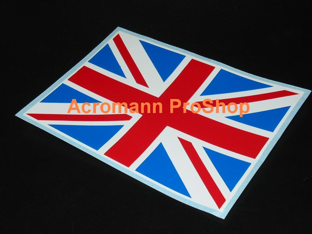Great Britain Union Jack Flag 5inch Decal (Style#1) x 1 pc
