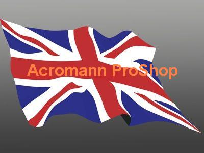 Great Britain Union Jack Flag 5inch Decal (Style#2) x 1 pc
