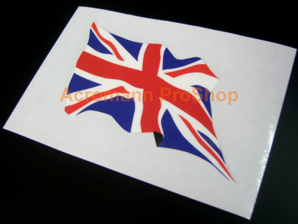 Great Britain Union Jack Wavy Flag 5inch Decal (Style#2) x 1 pc