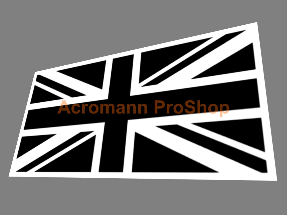 Great Britain Union Jack Flag 5inch Decal (Style#4) x 1 pc