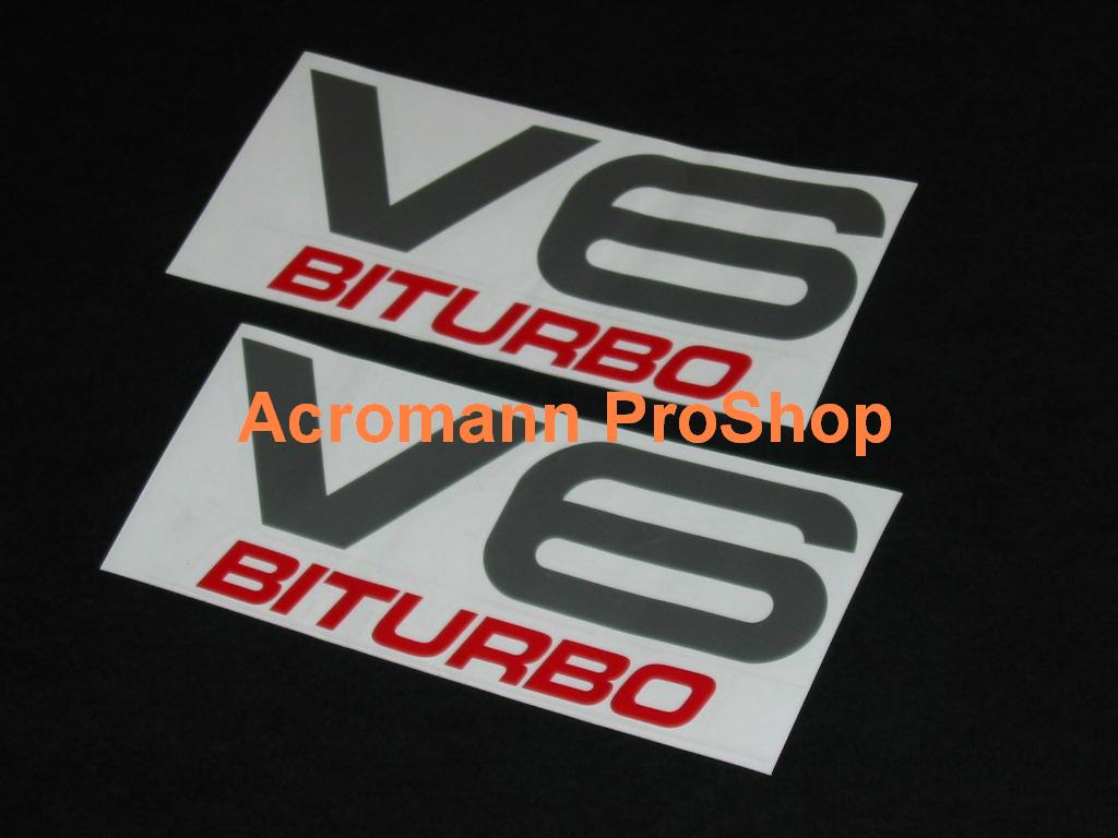 V6 BITURBO 6inch Decal x 2 pcs
