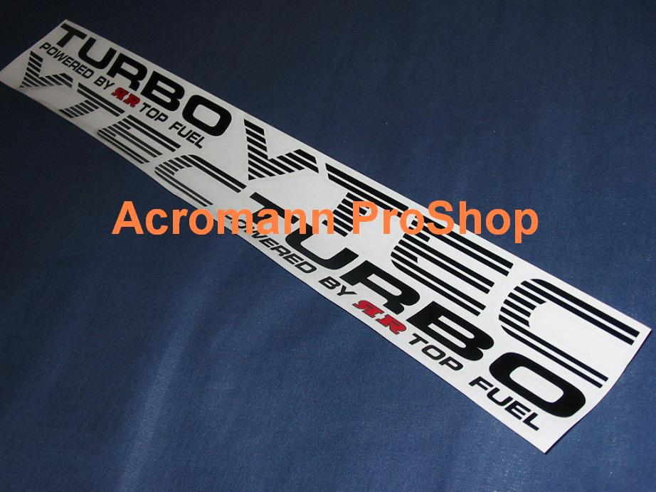Top Fuel TURBO Fender Decal (Style#1) x 1 pair (LHS & RHS)