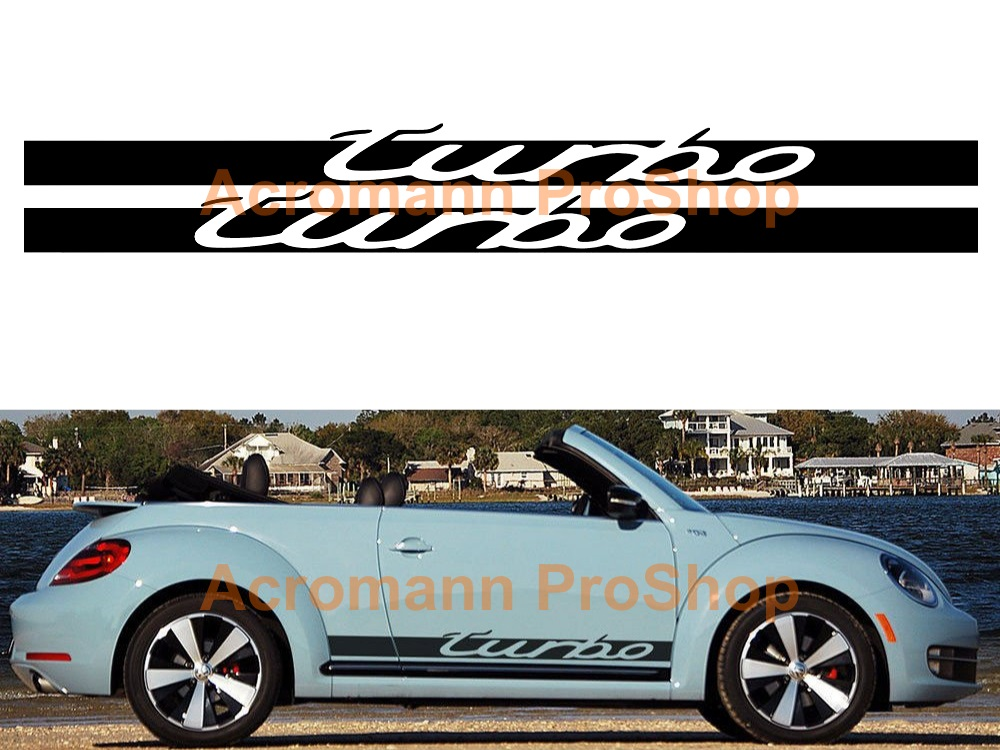 Turbo Side Stripe Door Decal (Style#1) x 1 pair (LHS & RHS)
