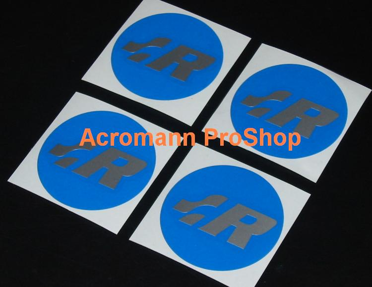 Racing R 2.2inch Wheel Cap Decal (Style#1) x 4 pcs