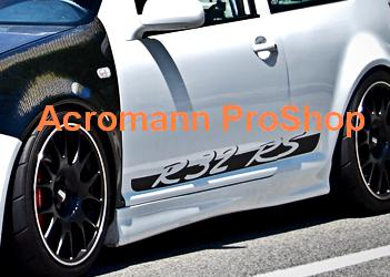R32 RS Porsche Style Side Door Decal x 1 pair (LHS & RHS)