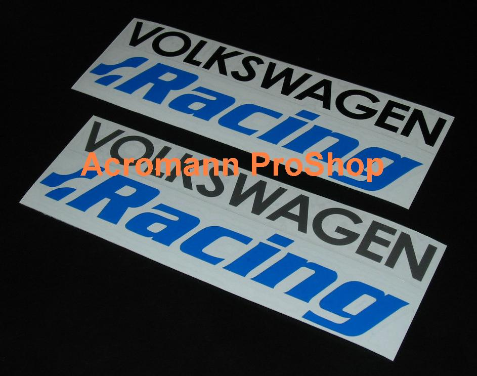 v w Racing 6inch Decal x 2 pcs
