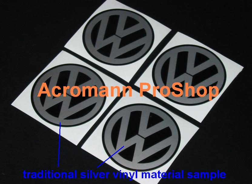 V Round Logo 2.2inch Wheel Cap Decal x 4 pcs