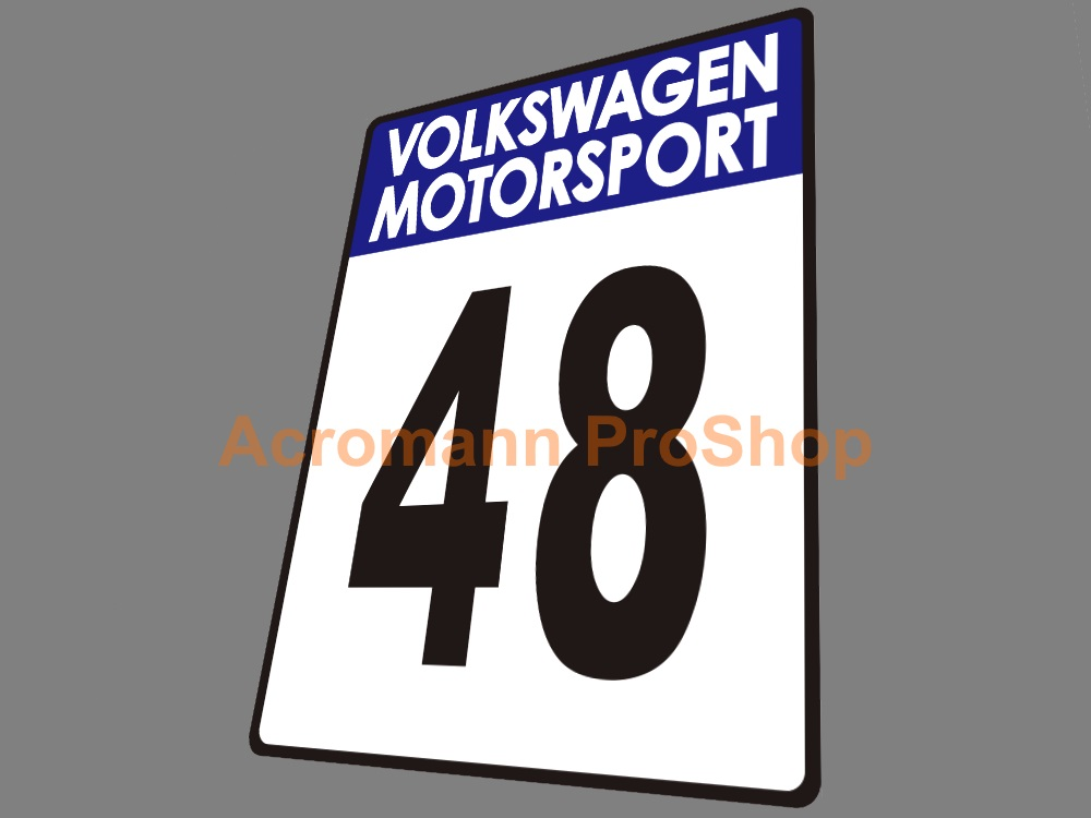 Motorsport Race Number Plate Door Decals Stickers (#1) x 2pcs