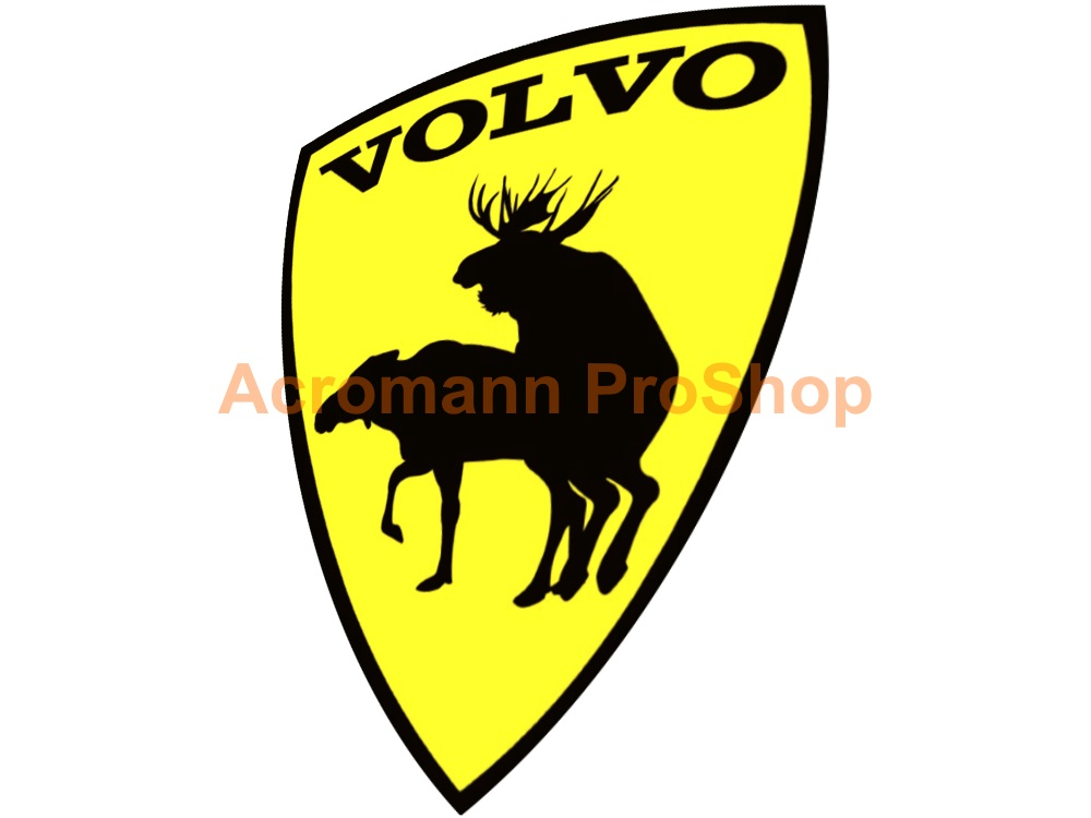 Volvo Prancing Moose 3.5inch Decal (Style#3) x 2 pcs