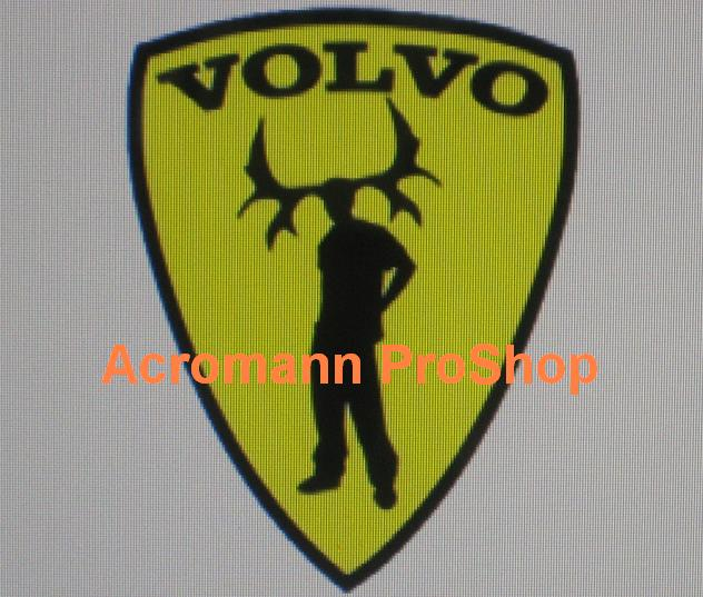 Volvo Prancing Man 3.5inch Decal x 2 pcs