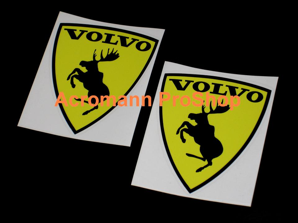 Volvo Prancing Moose 3.5inch Decal (Style#1) x 2 pcs