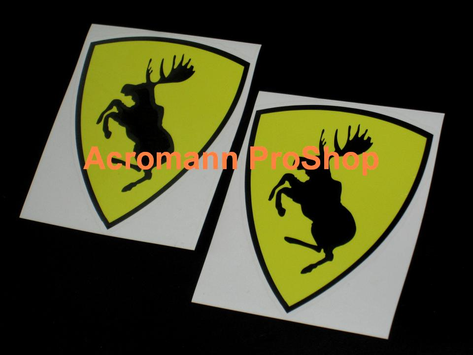 Volvo Prancing Moose 3.5inch Decal (Style#2) x 2 pcs