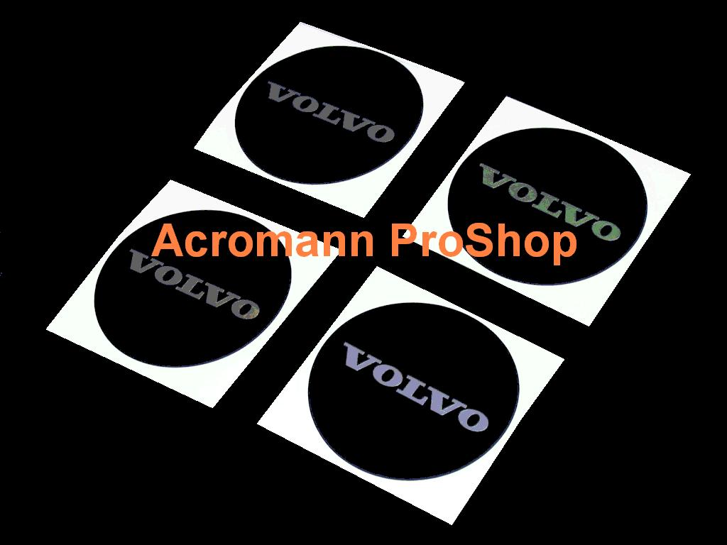 VOLVO 2.2inch Wheel Cap Decal (Style#4) x 4 pcs