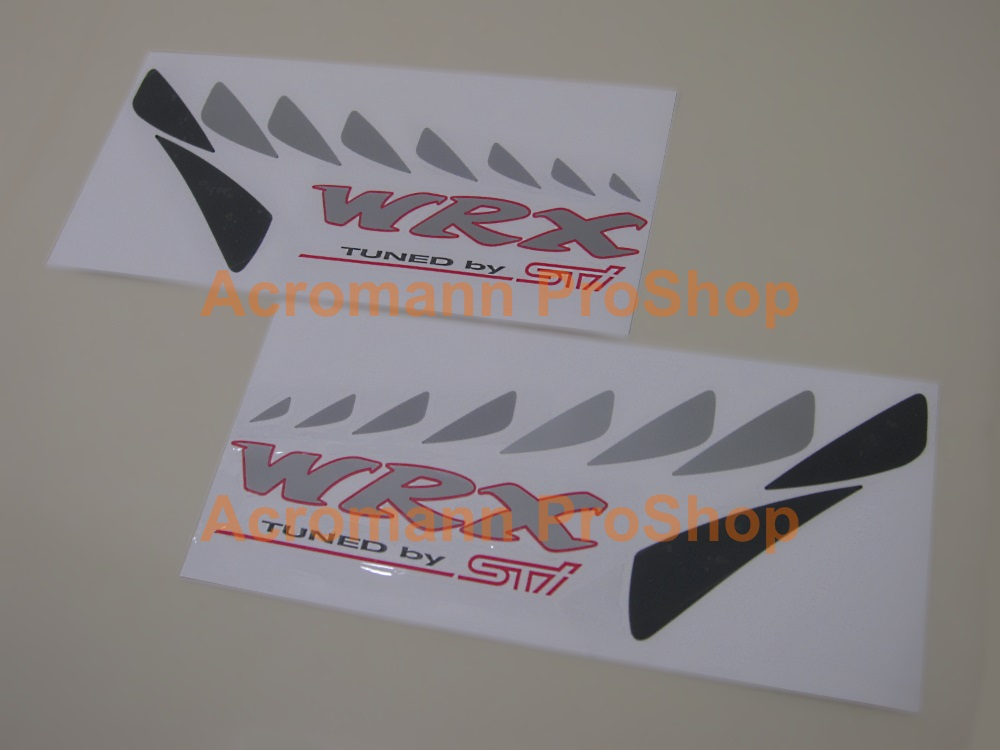 WRX Tuned by STi side panel Decal (Style#1) x 1 pair (die-cut)