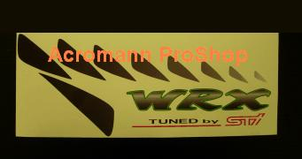 WRX Tuned by STi side panel Decal (GREEN) x 1 pair