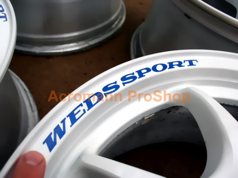 WedsSport TC-05 7inch curved Alloy Wheel Decal x 4pcs
