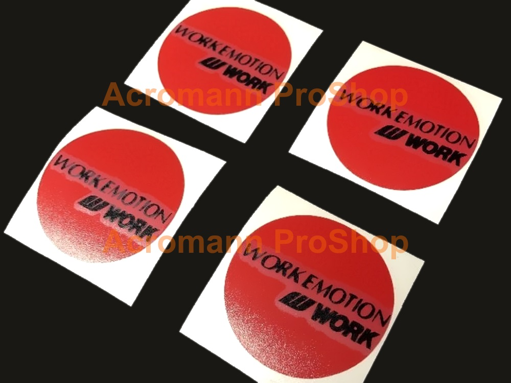 WORK Emotion 2.2inch Wheels Cap Decal x 4 pcs