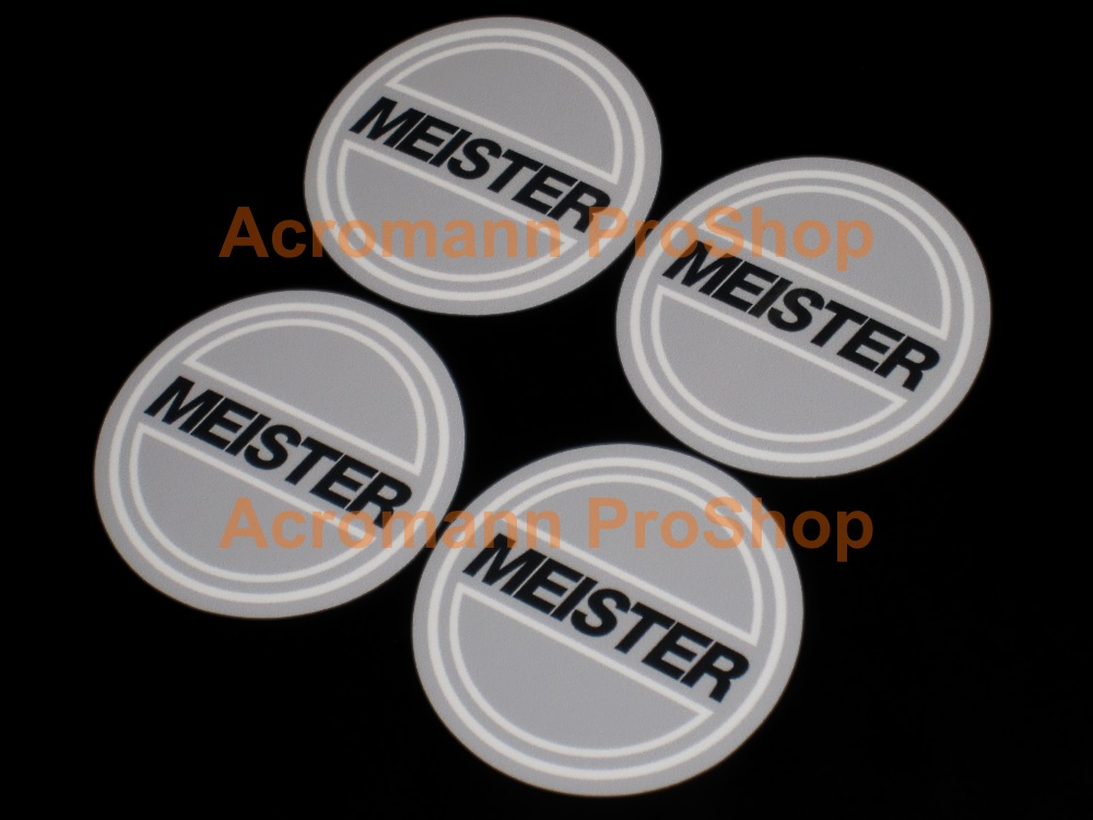 WORK Meister 2.2inch Wheels Cap Decal x 4 pcs